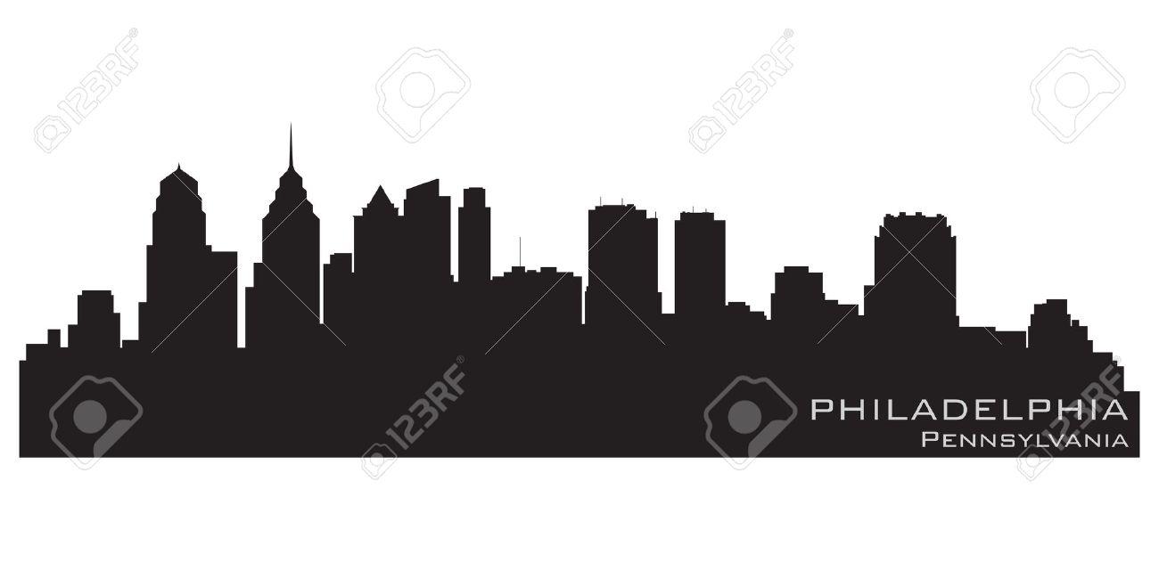 Philadelphia, Pennsylvania city skyline  Detailed vector silhouette Stock Vector - 13042184