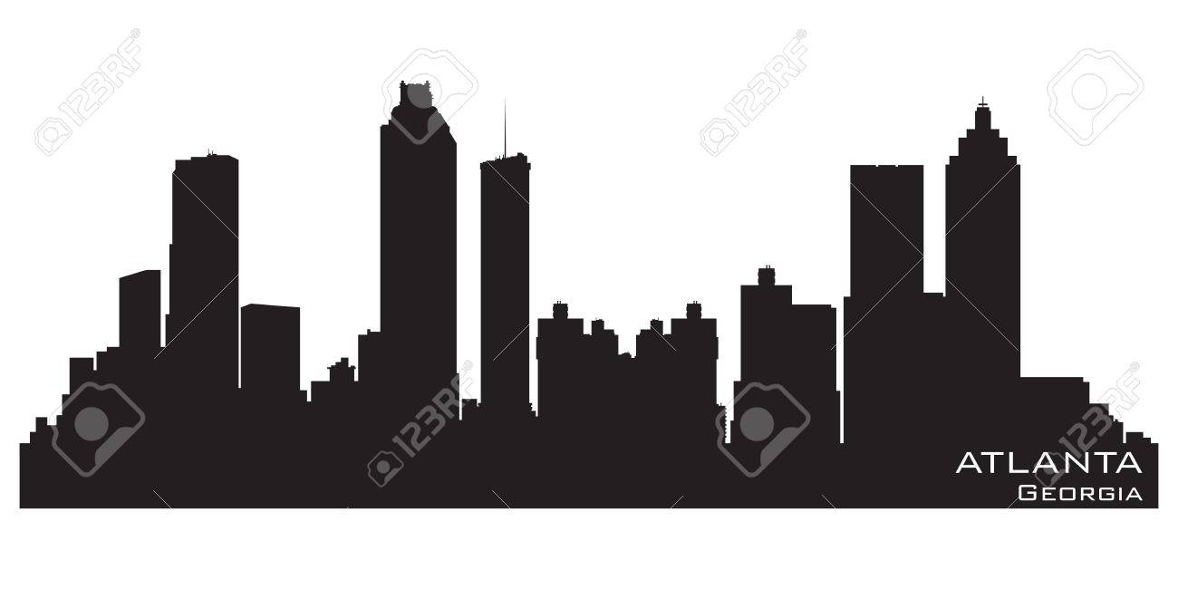atlanta georgia skyline royalty free cliparts vectors and stock rh 123rf com  atlanta city skyline vector