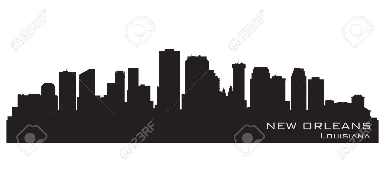 new orleans louisiana skyline detailed silhouette royalty free rh 123rf com Shreveport LA Skyline New Orleans Skyline