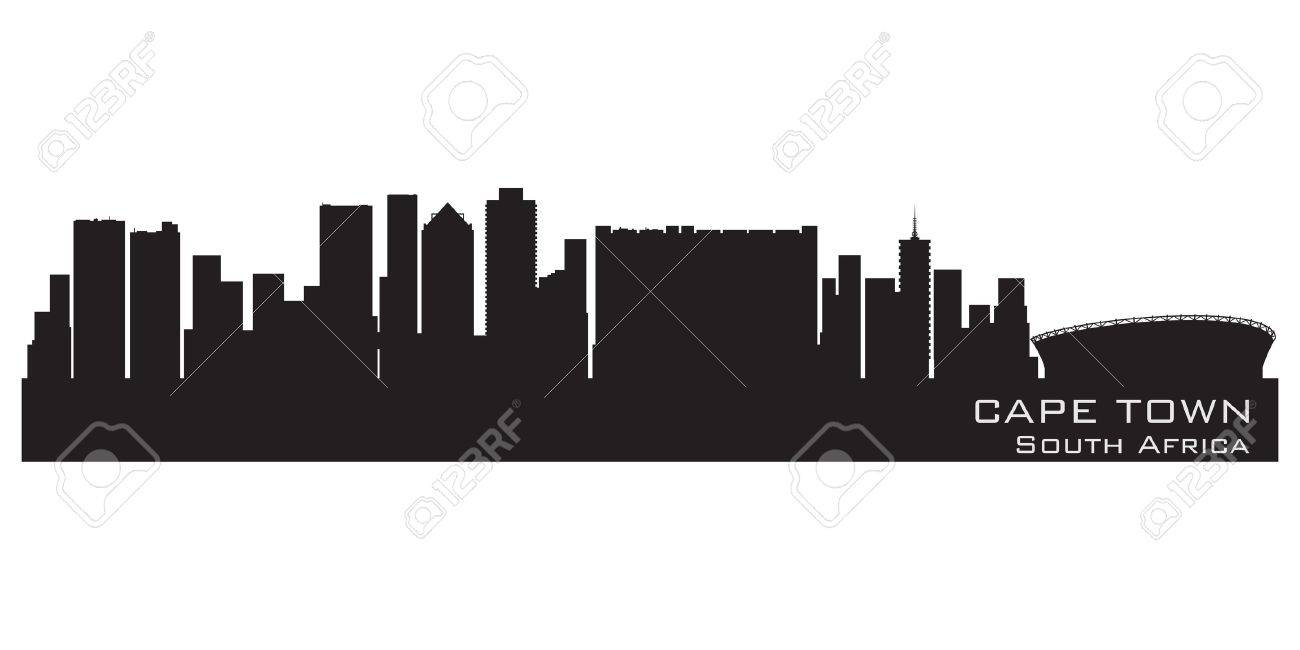 Cape Town, South Africa skyline. Detailed vector silhouette Stock Vector - 14917307