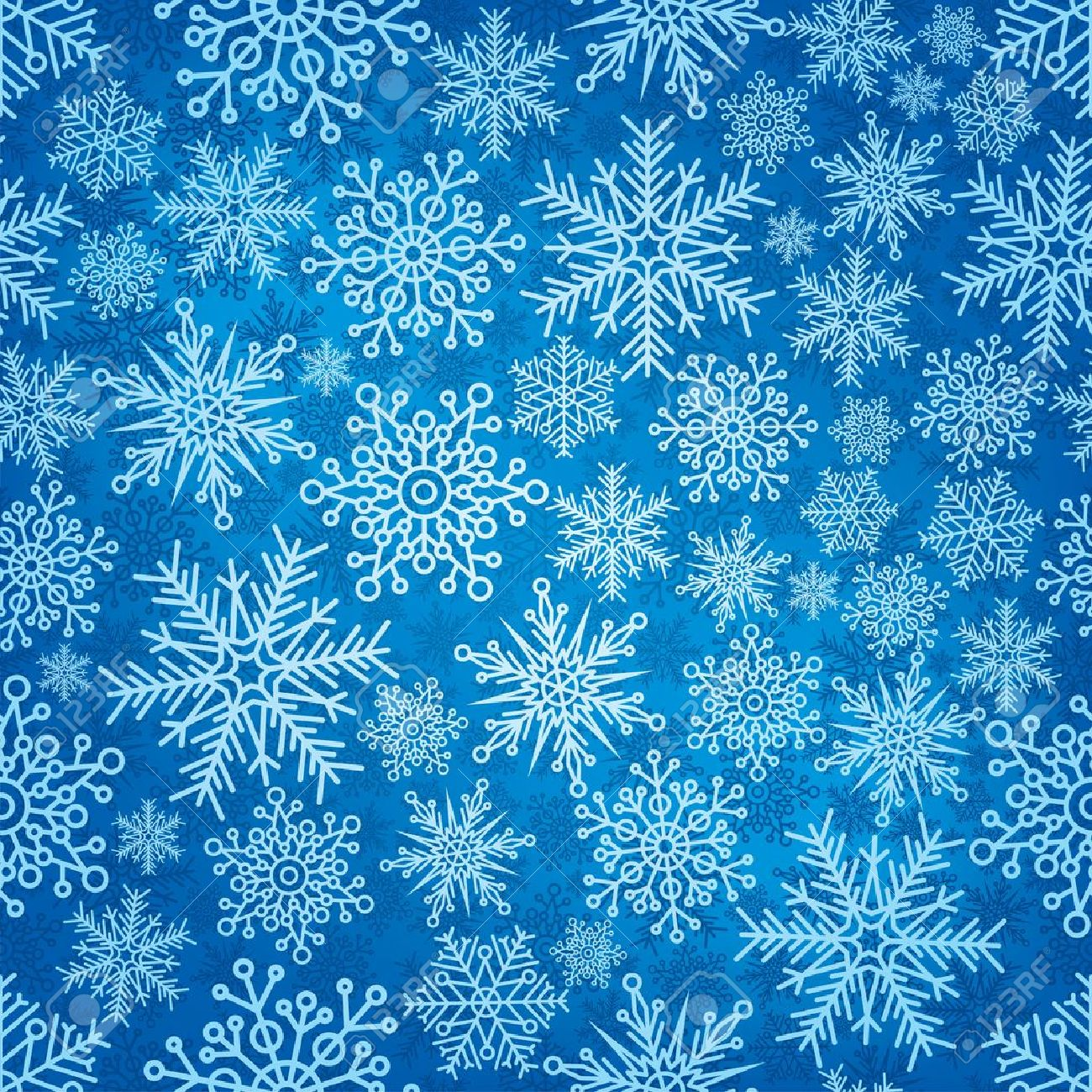 Seamless pattern with New Year's snowflakes. Stock Vector - 16520750