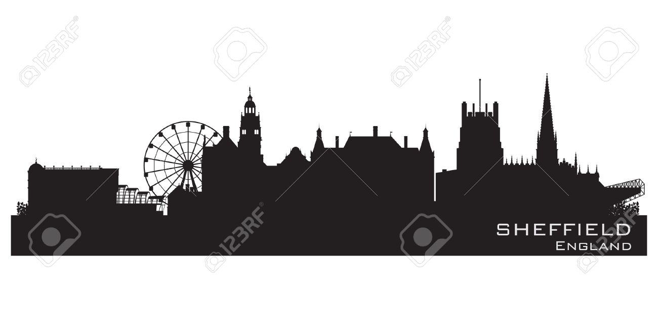 Sheffield, England skyline. Detailed  silhouette Stock Vector - 16563236