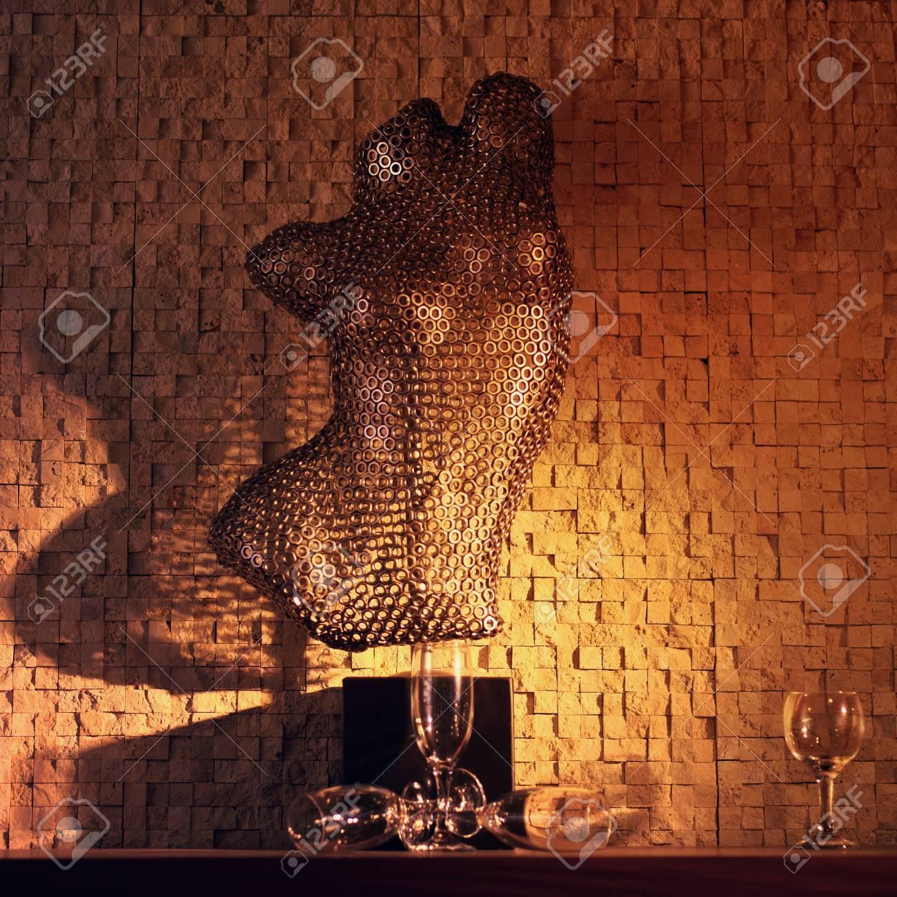 Hauberk in the interior of the bar Stock Photo - 16951012