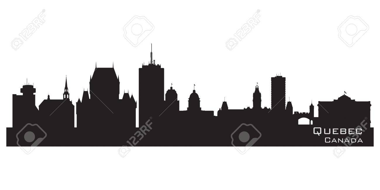 Quebec, Canada skyline. Detailed silhouette Stock Vector - 17023534