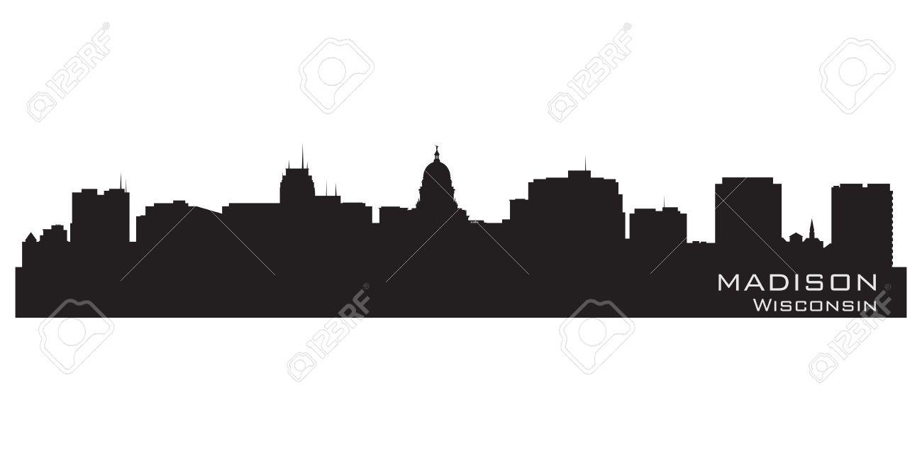 Madison, Wisconsin skyline. Detailed city silhouette. Vector illustration Stock Vector - 17597967