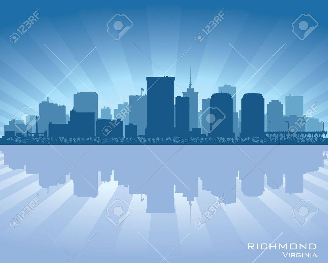 Richmond, Virginia skyline city silhouette Stock Vector - 17598672