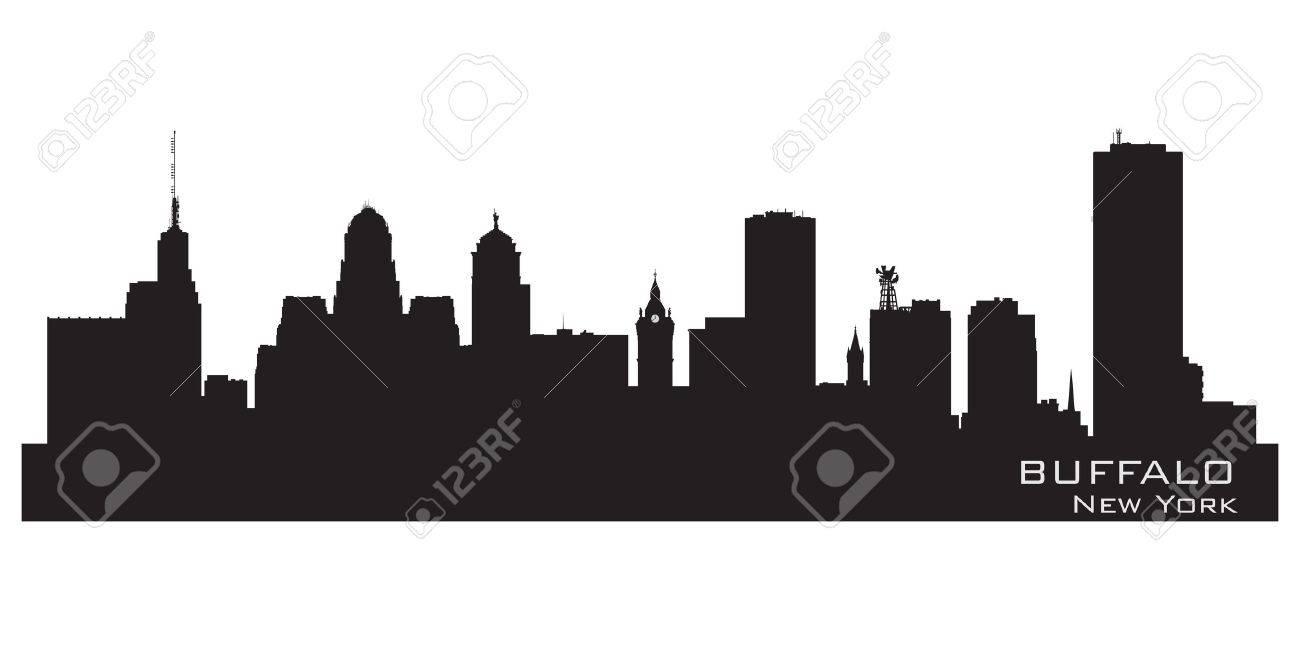 Buffalo, New York. Detailed city silhouette. Vector illustration Stock Vector - 17598758