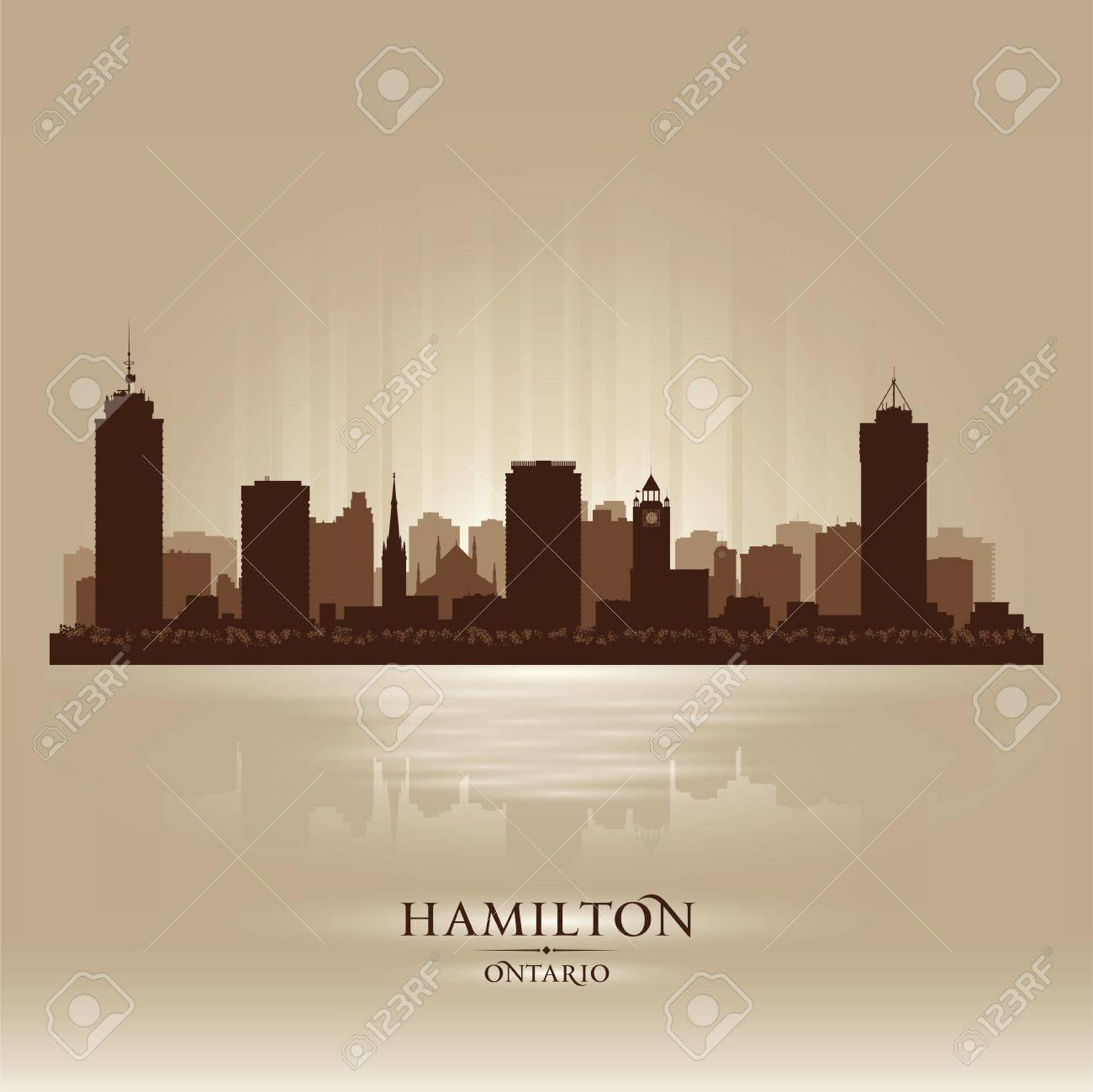 Hamilton Canada skyline city silhouette illustration Stock Vector - 19719977