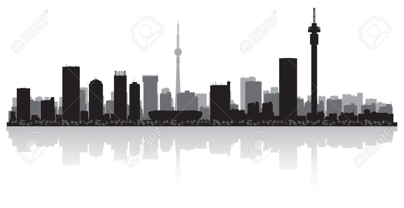 Johannesburg city skyline silhouette illustration Stock Vector - 20936703