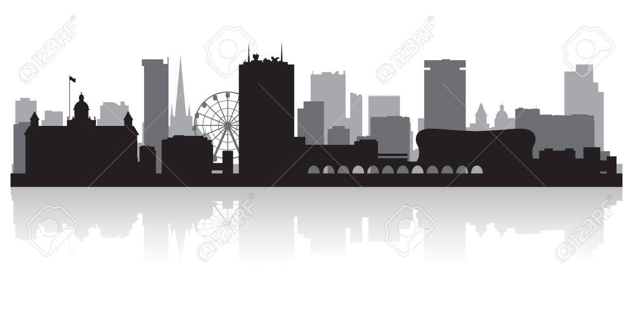 Birmingham city skyline silhouette vector illustration Stock Vector - 21157889