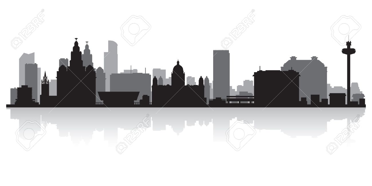Liverpool City Skyline Silhouette Vector Illustration Royalty Free Cliparts Vectors And Stock Illustration Image 21157896