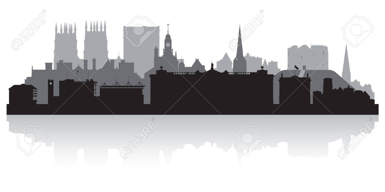 York city skyline silhouette vector illustration Stock Vector - 21157903