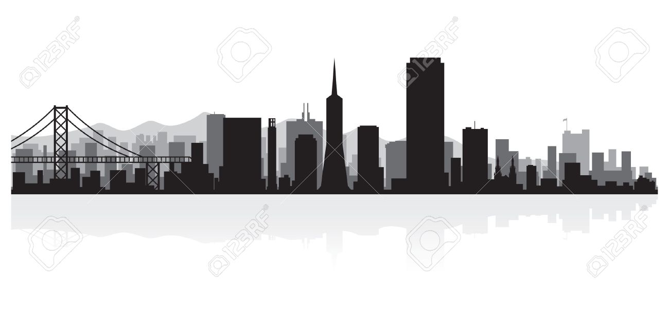 san francisco usa city skyline silhouette vector illustration rh 123rf com san francisco skyline vector free san francisco city skyline vector
