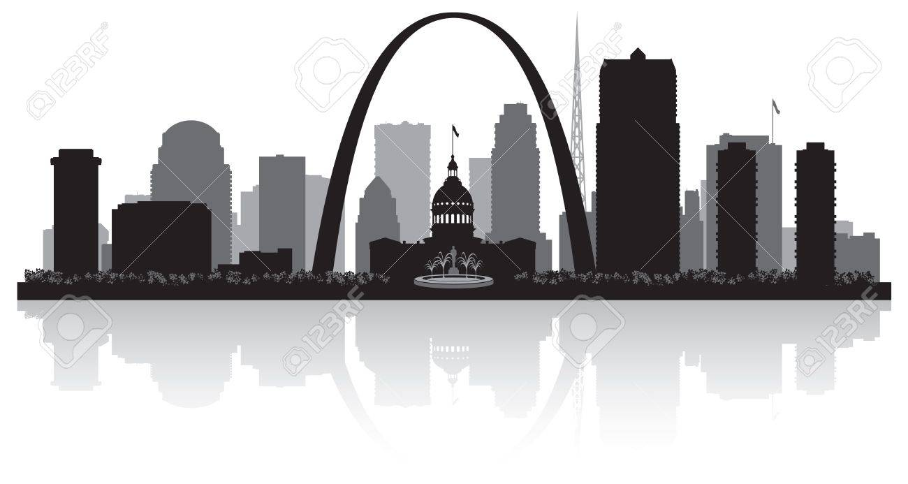 saint louis missouri city skyline vector silhouette illustration rh 123rf com skyline victory skyline vector pack free