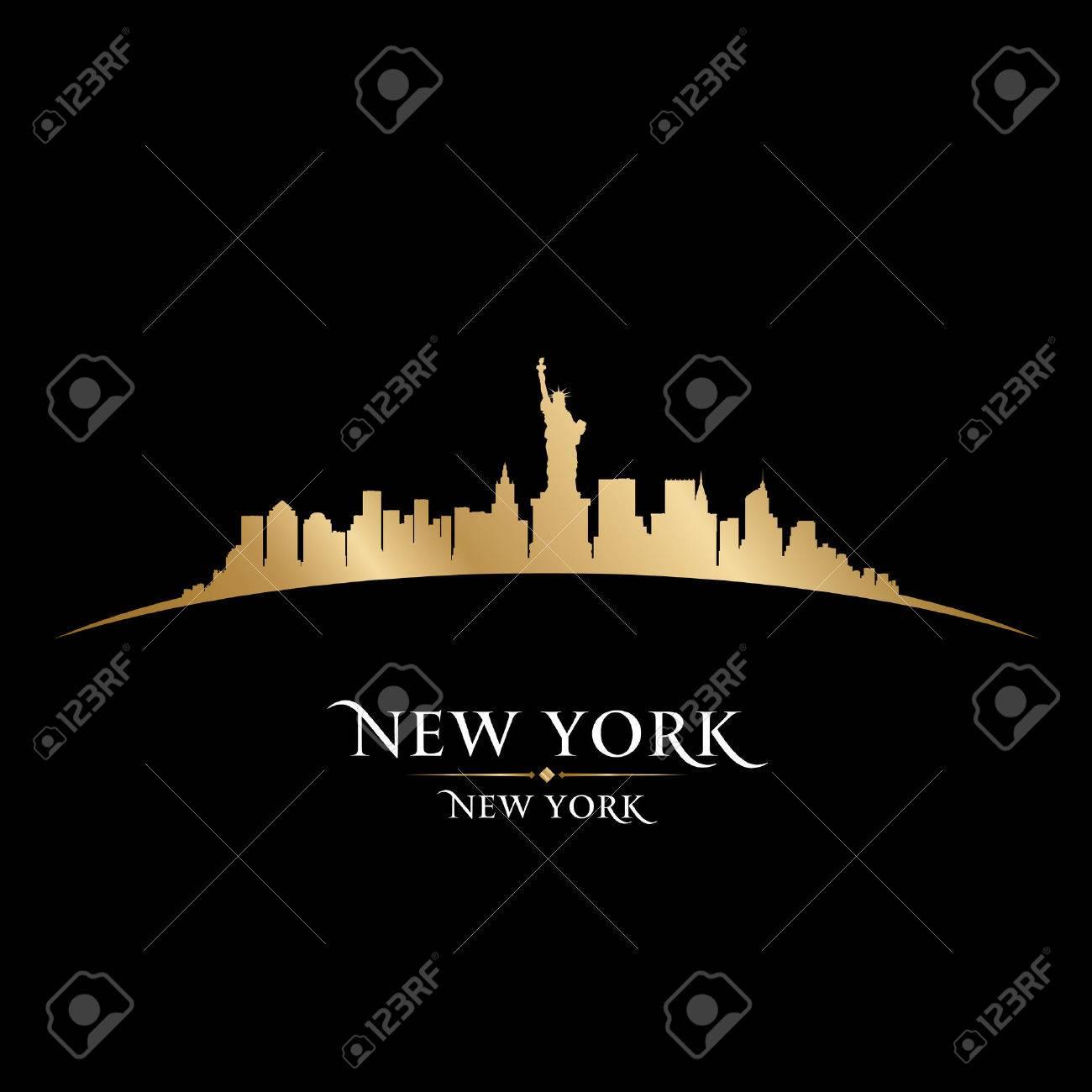 New York city skyline silhouette. Vector illustration Stock Vector - 22598679