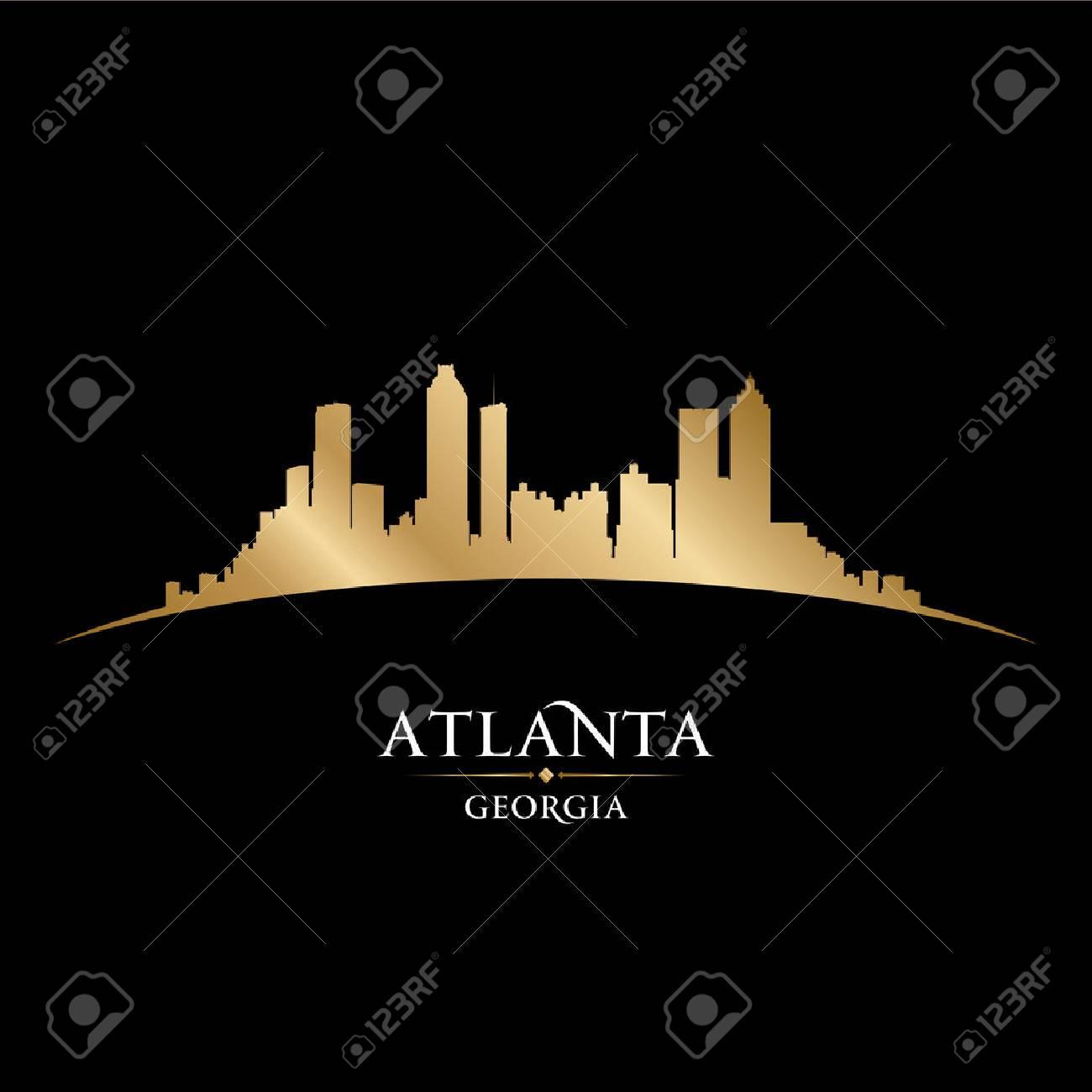 Atlanta Georgia city skyline silhouette  Vector illustration Stock Vector - 22726455