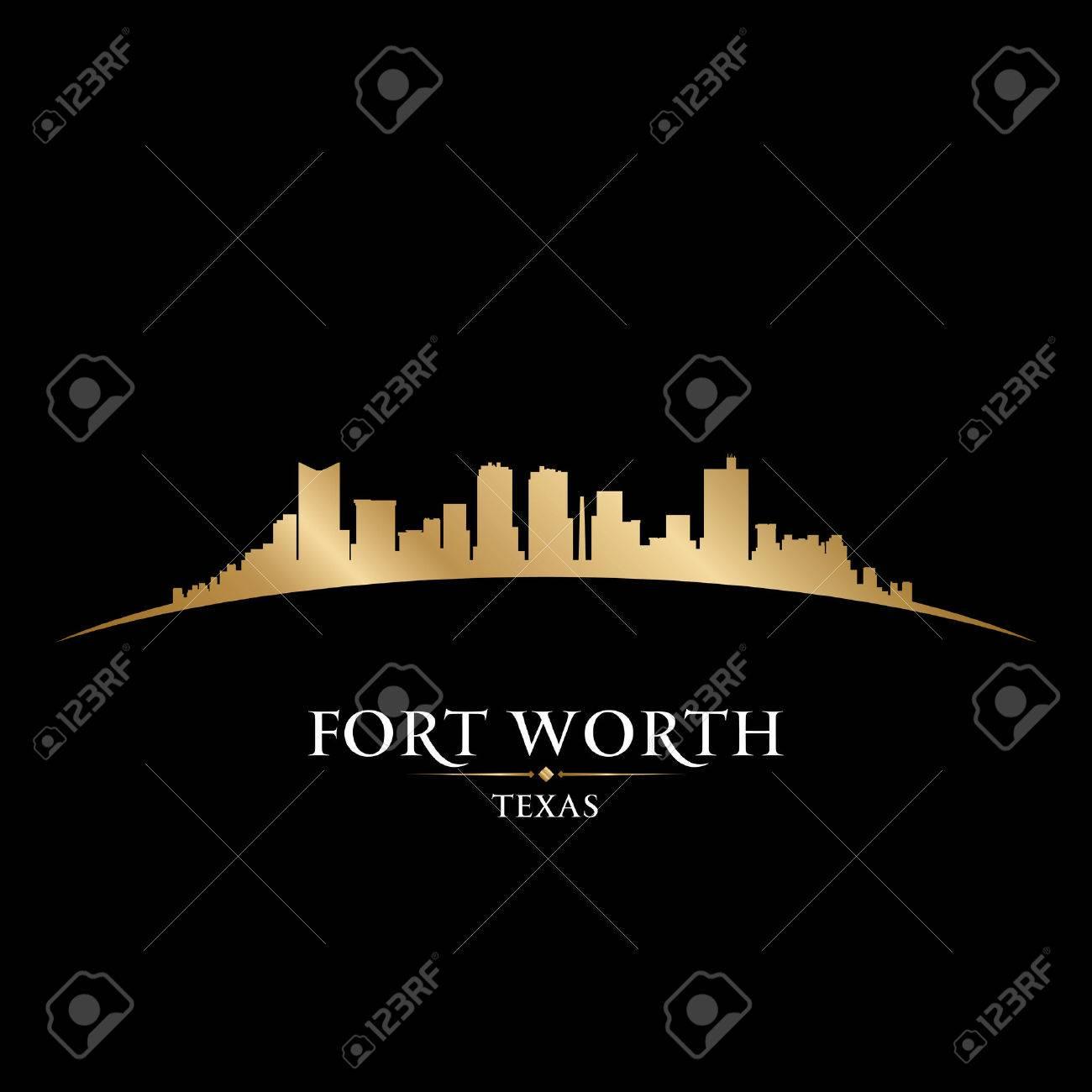 Fort Worth Texas city skyline silhouette. Vector illustration Stock Vector - 22726528