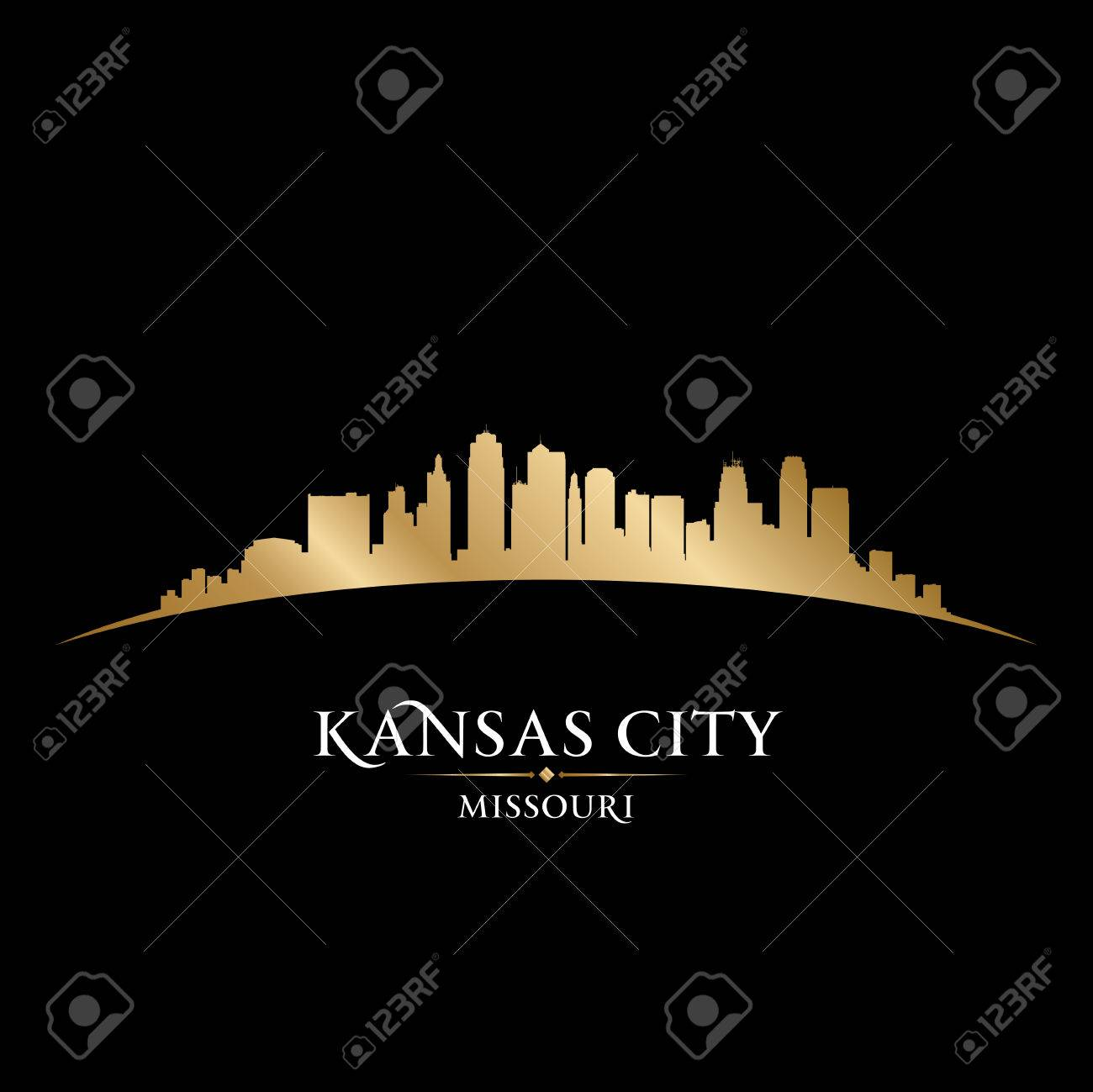 Kansas city Missouri skyline silhouette. Vector illustration Stock Vector - 22726530