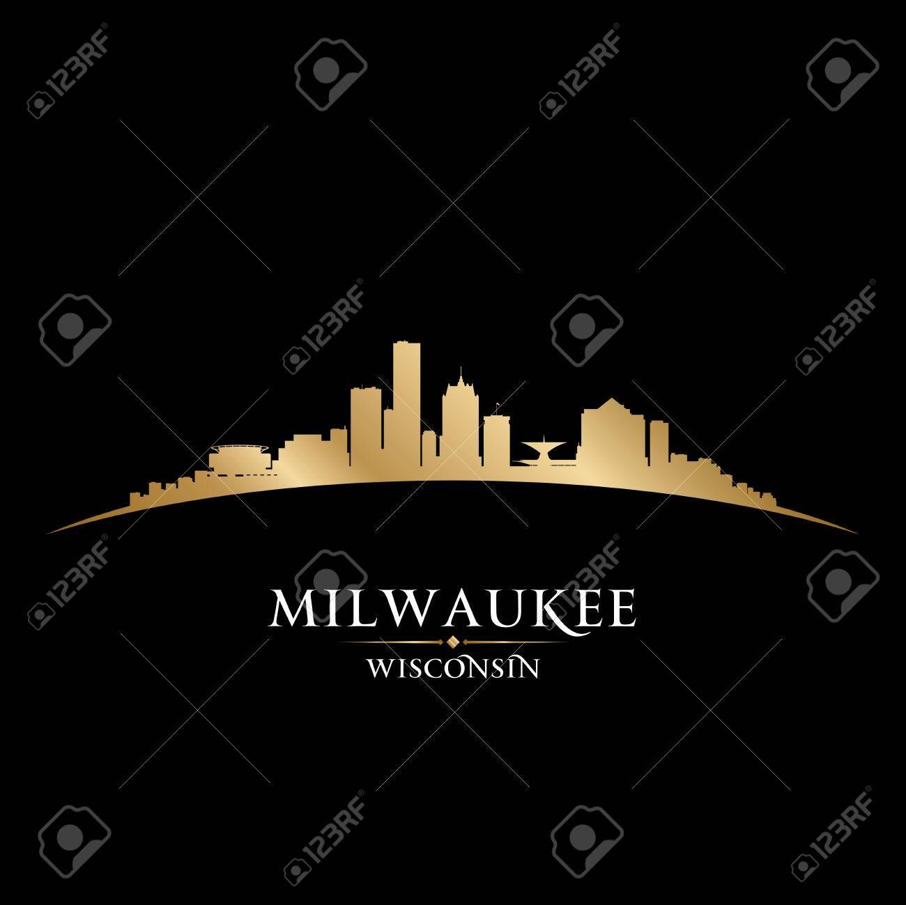 Milwaukee Wisconsin city skyline silhouette. Vector illustration Stock Vector - 22726531