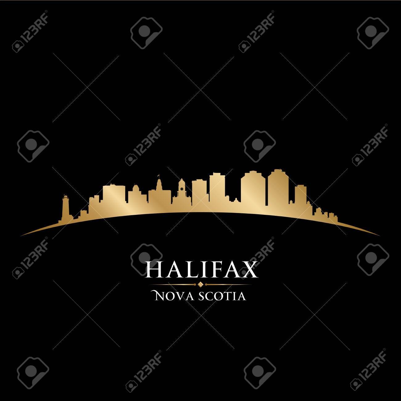 Halifax Nova Scotia Canada city skyline silhouette. Vector illustration Stock Vector - 22867295