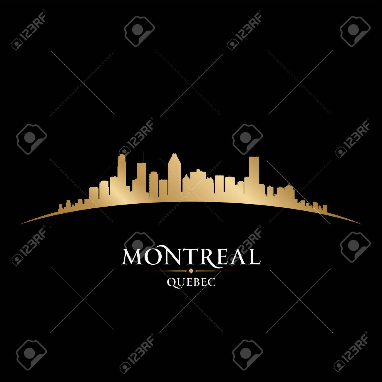 Montreal Quebec Canada city skyline silhouette. Vector illustration Stock Vector - 22867316