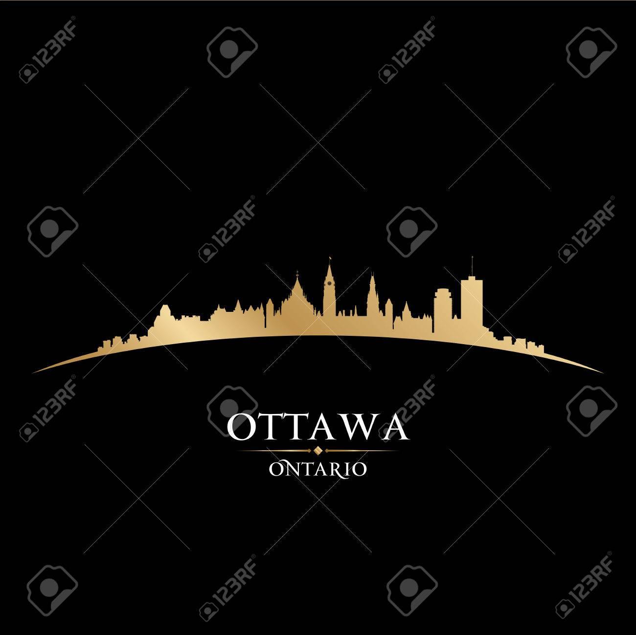 Ottawa Ontario Canada city skyline silhouette. Vector illustration Stock Vector - 22867318