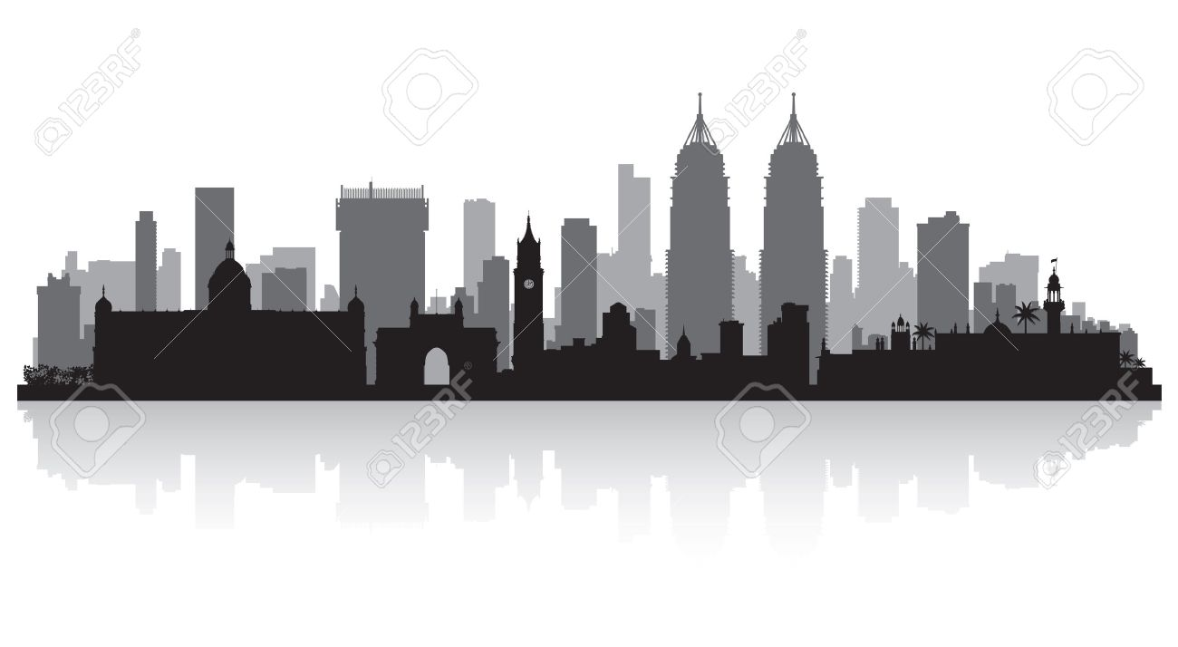 mumbai india city skyline vector silhouette illustration royalty rh 123rf com skyline victory skyline victory manufactured home