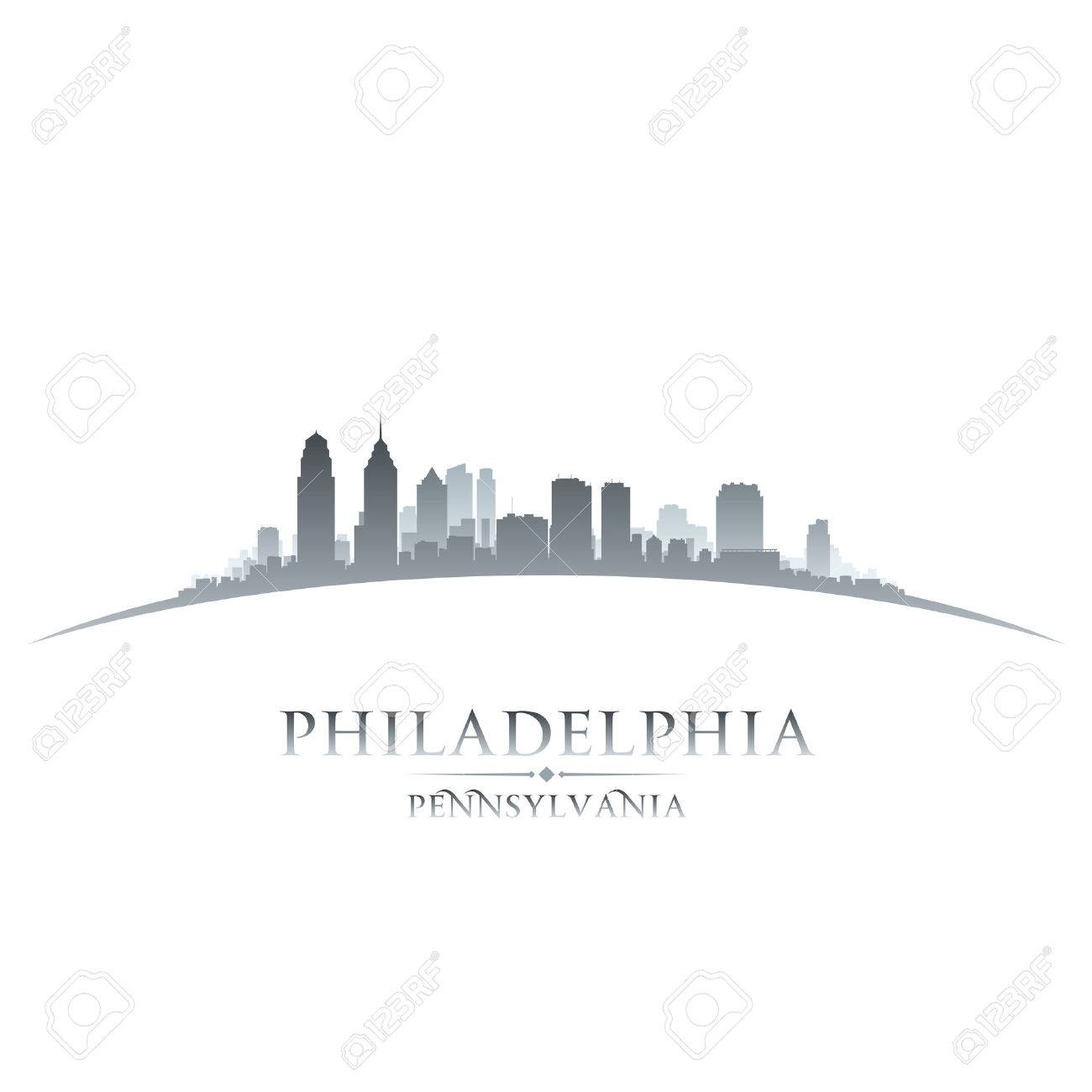 Philadelphia Pennsylvania city skyline silhouette. Vector illustration Stock Vector - 24510428