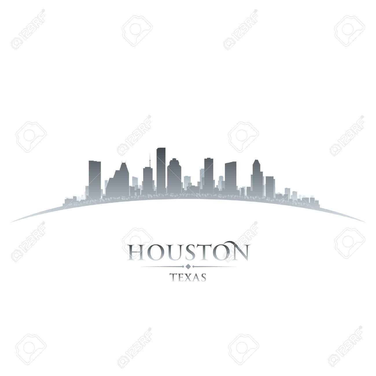 Houston Texas city skyline silhouette. Vector illustration Stock Vector - 24601186