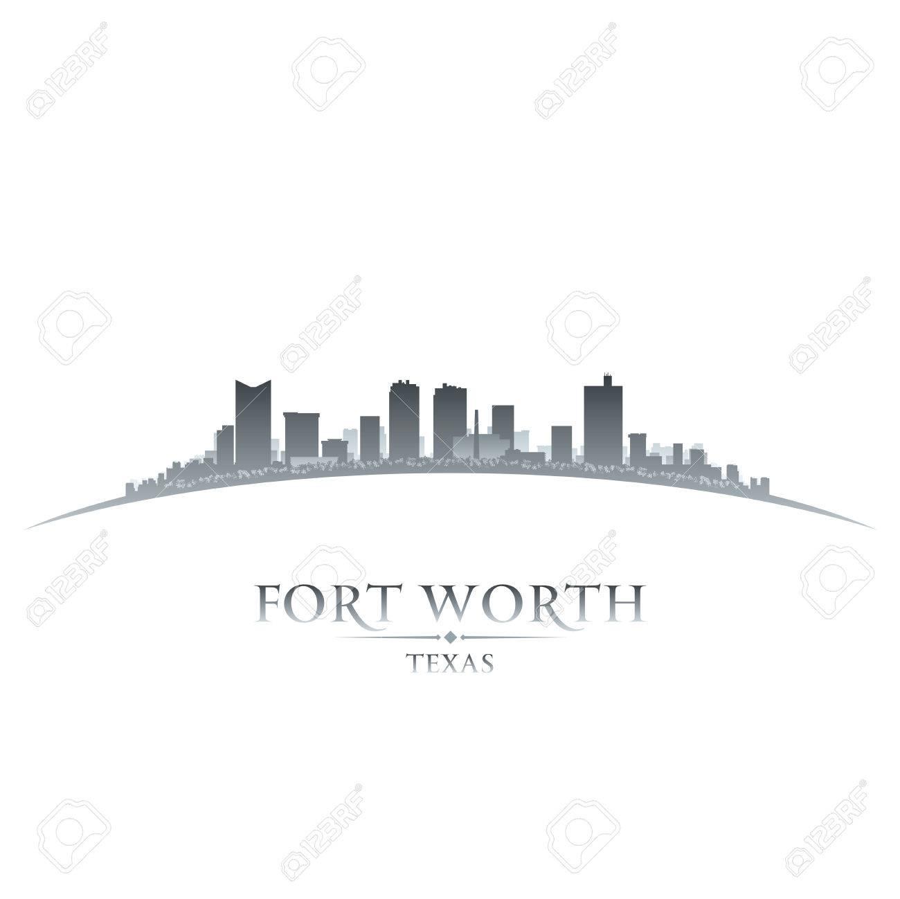 Fort Worth Texas city skyline silhouette. Vector illustration - 24697386