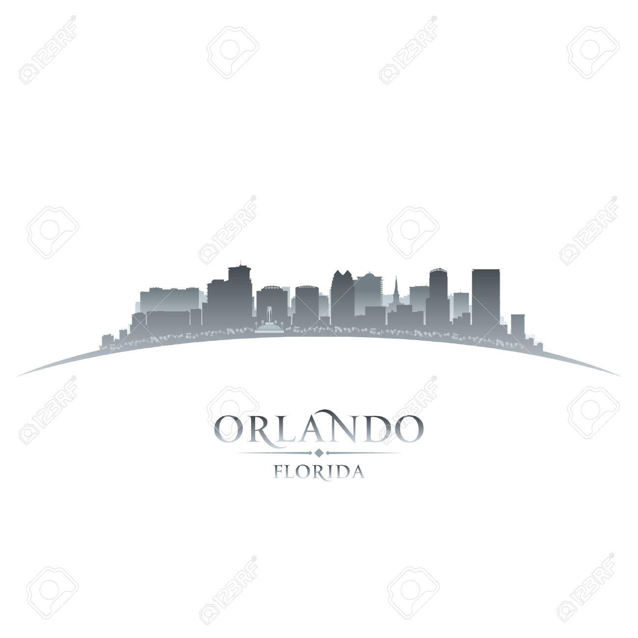 Orlando city skyline silhouette. Vector illustration Stock Vector - 24750985