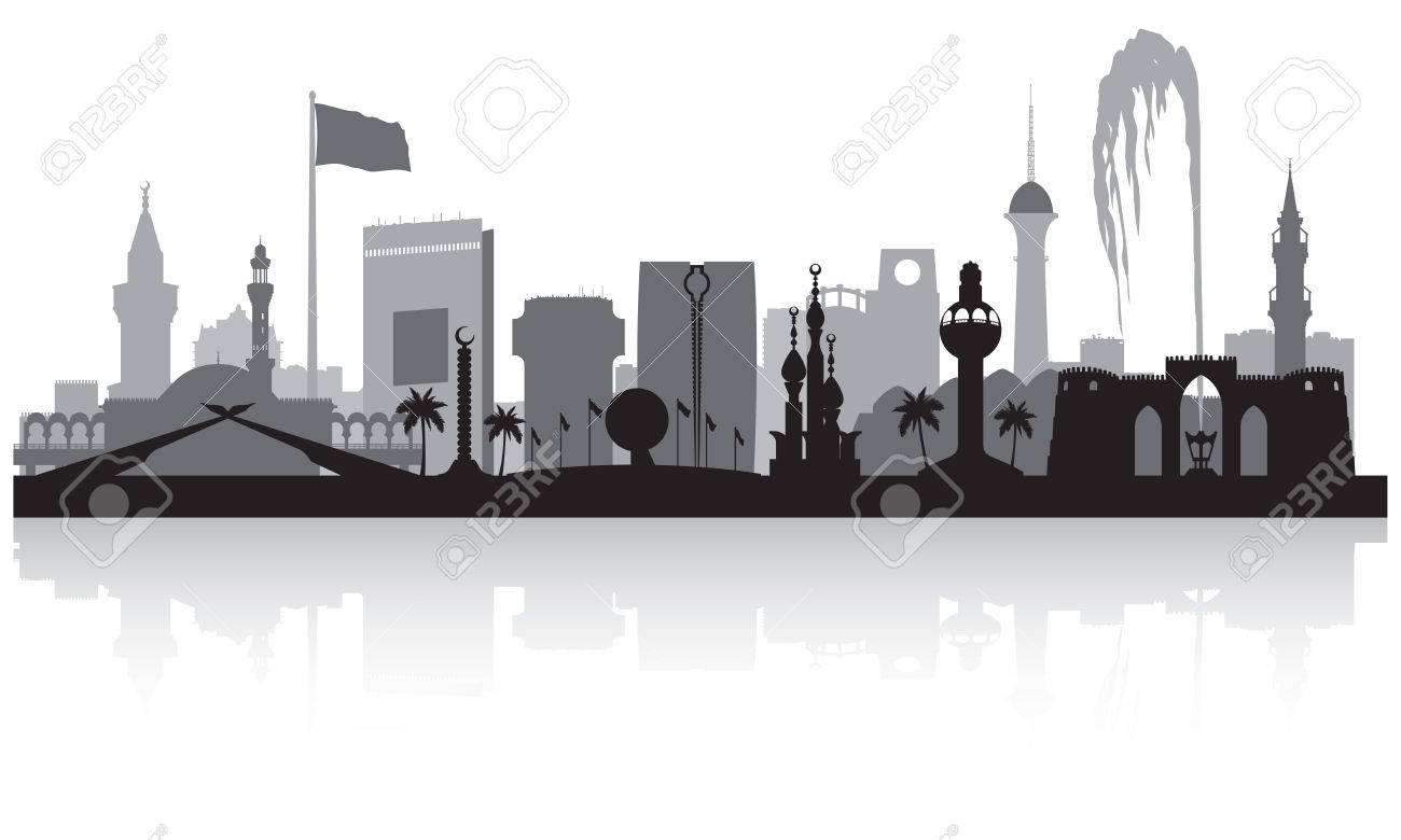 jeddah saudi arabia city skyline vector silhouette illustration rh 123rf com skyline vector pack free skyline victory