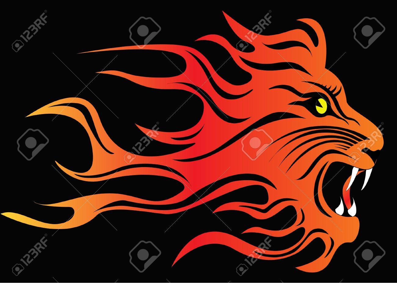 Фото лев в ярости в огне 6