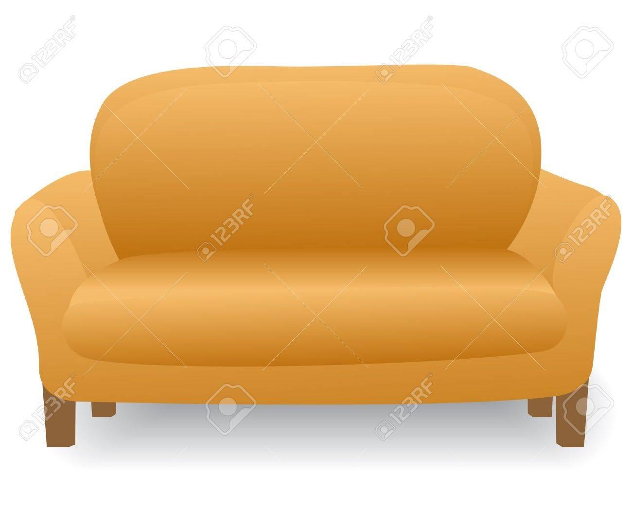 Illustration Soft And Comfortable Home Modern Sofa Stock Vector   10488351