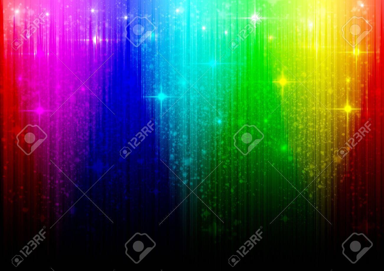 虹色のイラスト背景三角遷移と星 ロイヤリティーフリーフォト