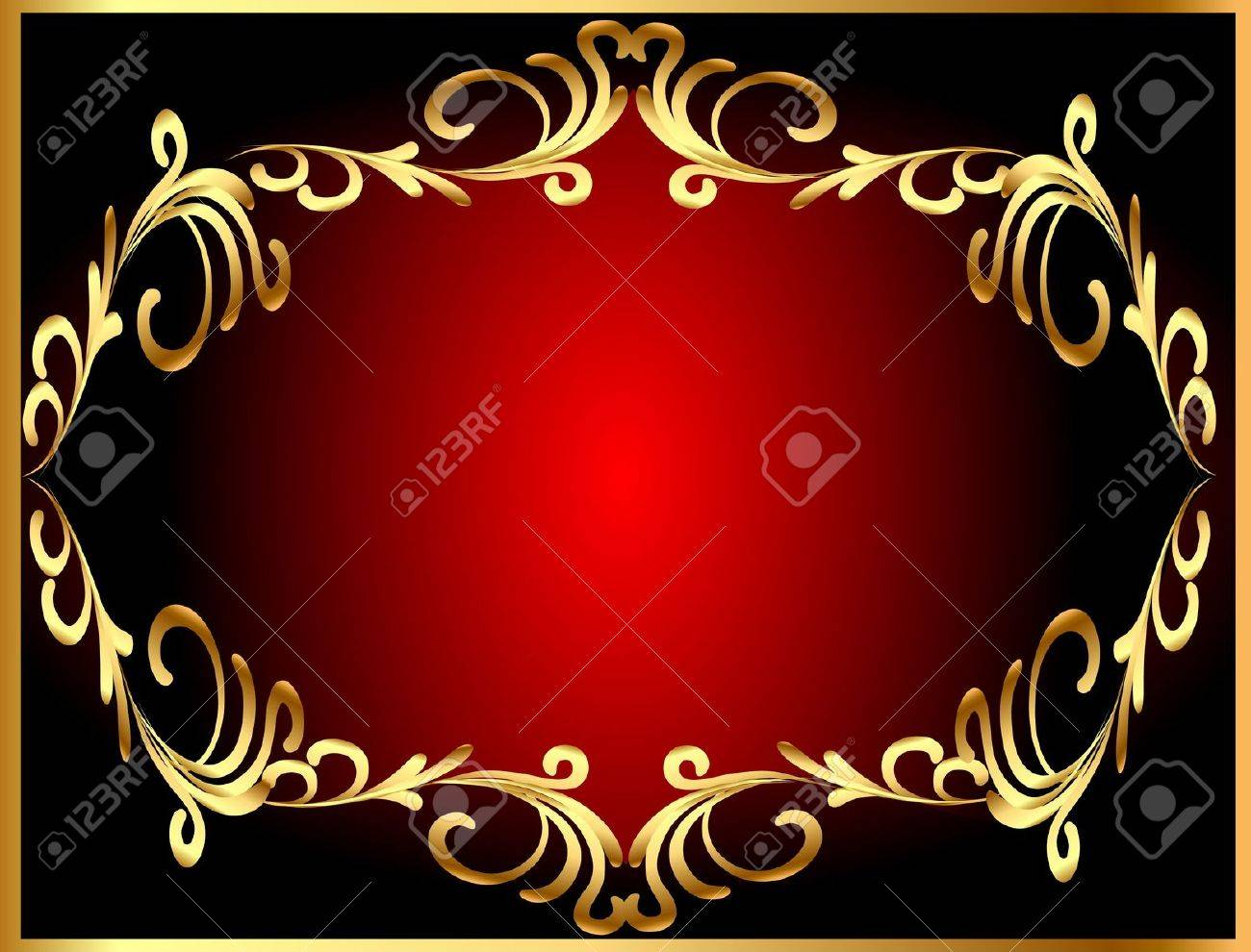 illustration frame background with gold(en) winding pattern Stock Vector - 11929489