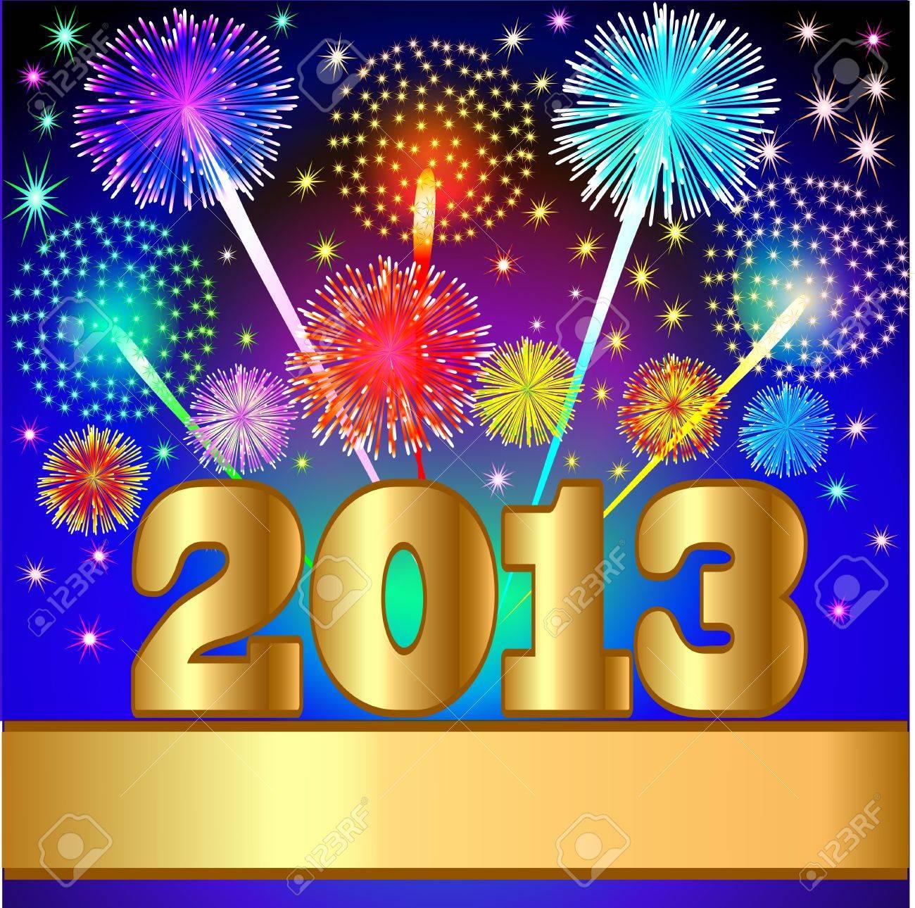 Hintergrund New Year Hintergrund Mit Gruß Und Gold (en) Ziffer ...