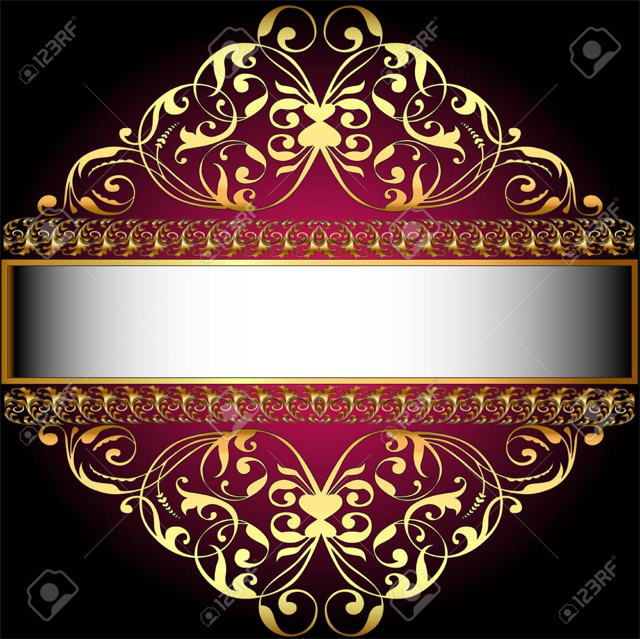 vintage background with golden floral ornament Stock Vector - 15899262