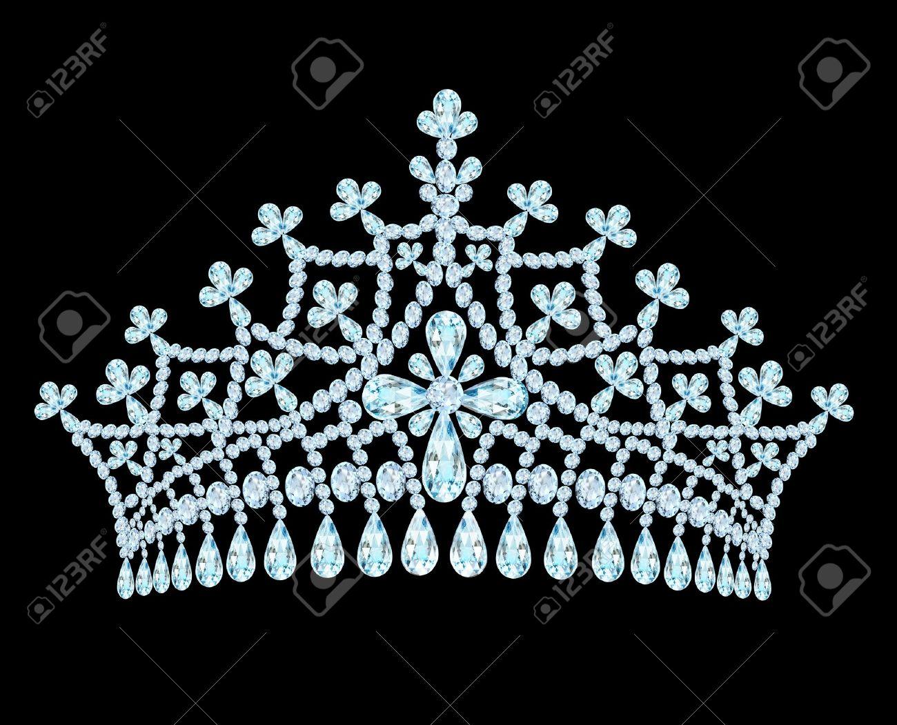 illustration feminine wedding tiara crown with tassels Stock Vector - 17418583