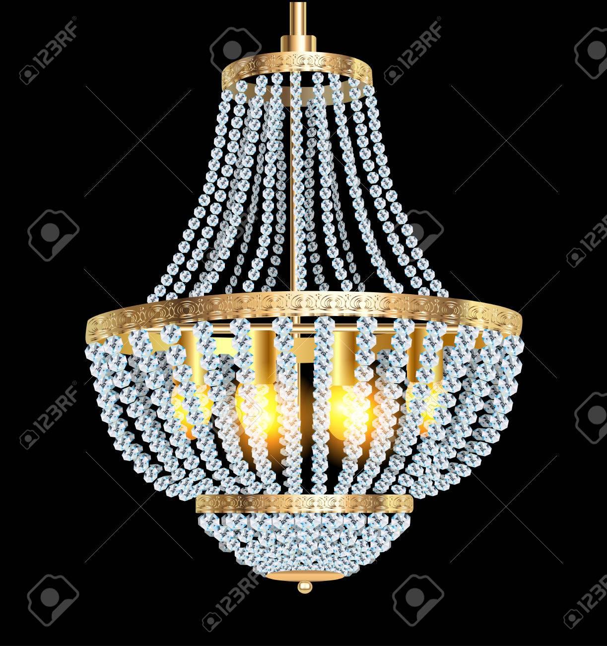 araña de el con una de Ilustración negro lámpara cristal colgantes de en SzVMUp
