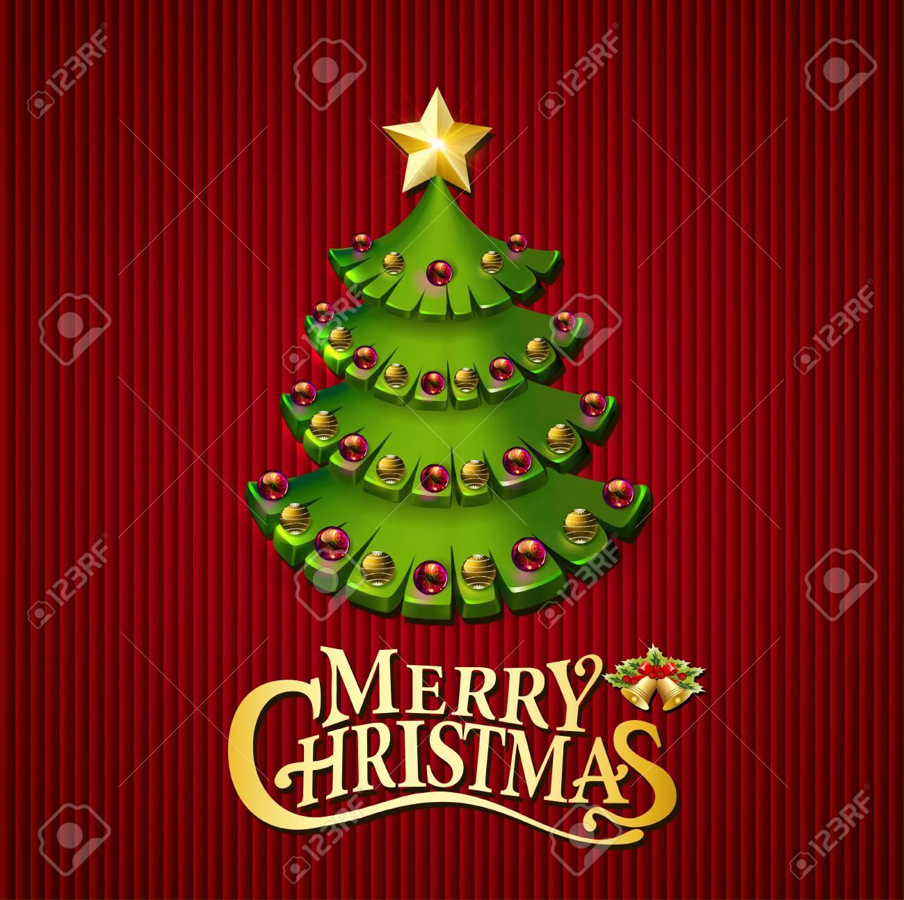 Weihnachtsbäume Illustration Hintergrund Mit Einem Wunsch Lizenzfrei ...