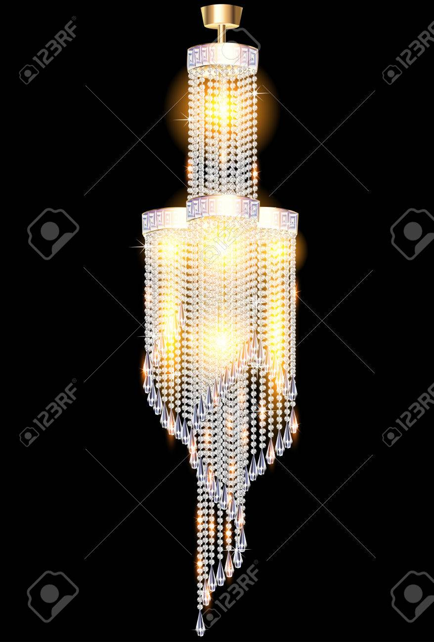 Illustration of a modern chandelier with crystal pendants royalty illustration of a modern chandelier with crystal pendants stock vector 60164277 arubaitofo Gallery