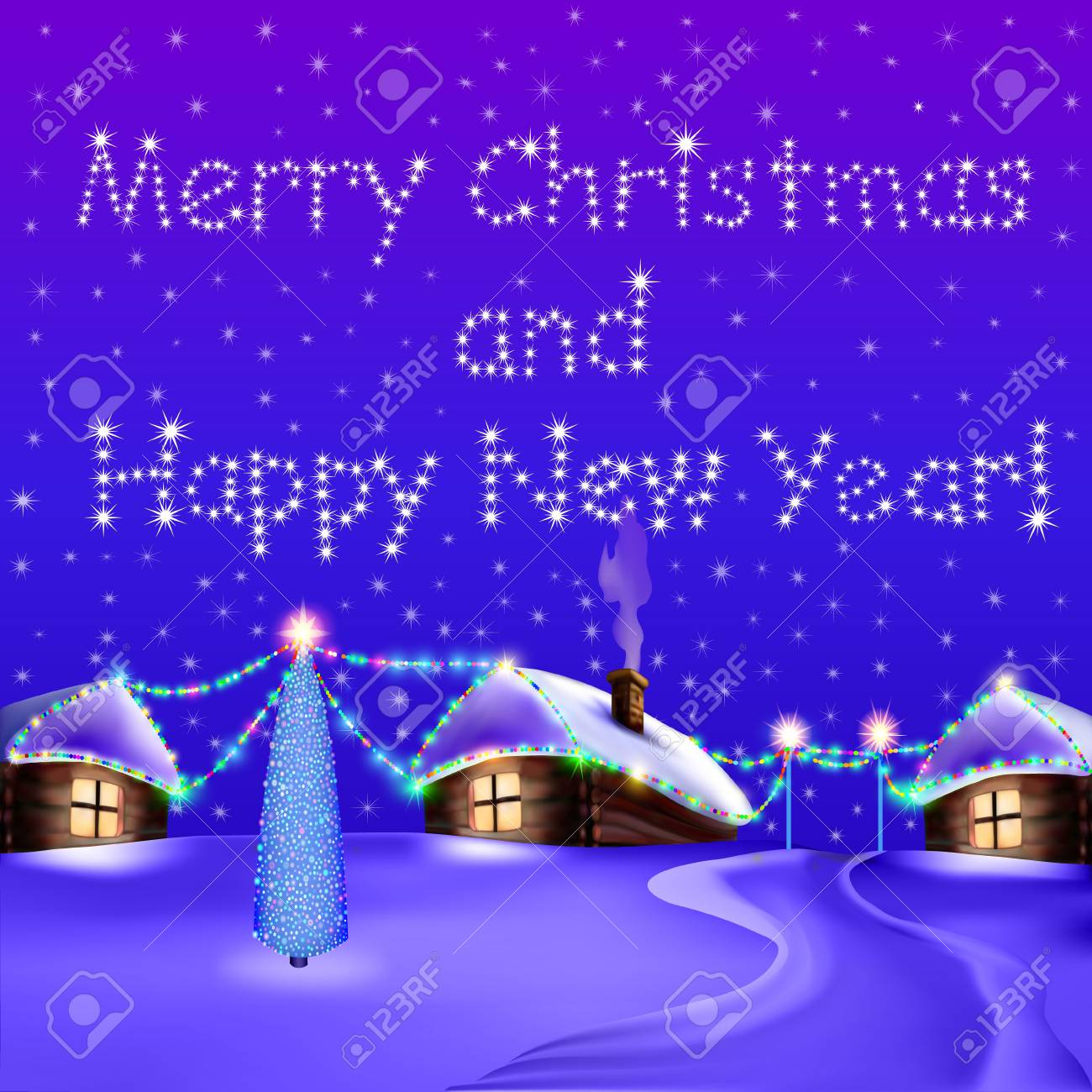 merry christmas and happy new year banner stock vector 92056648