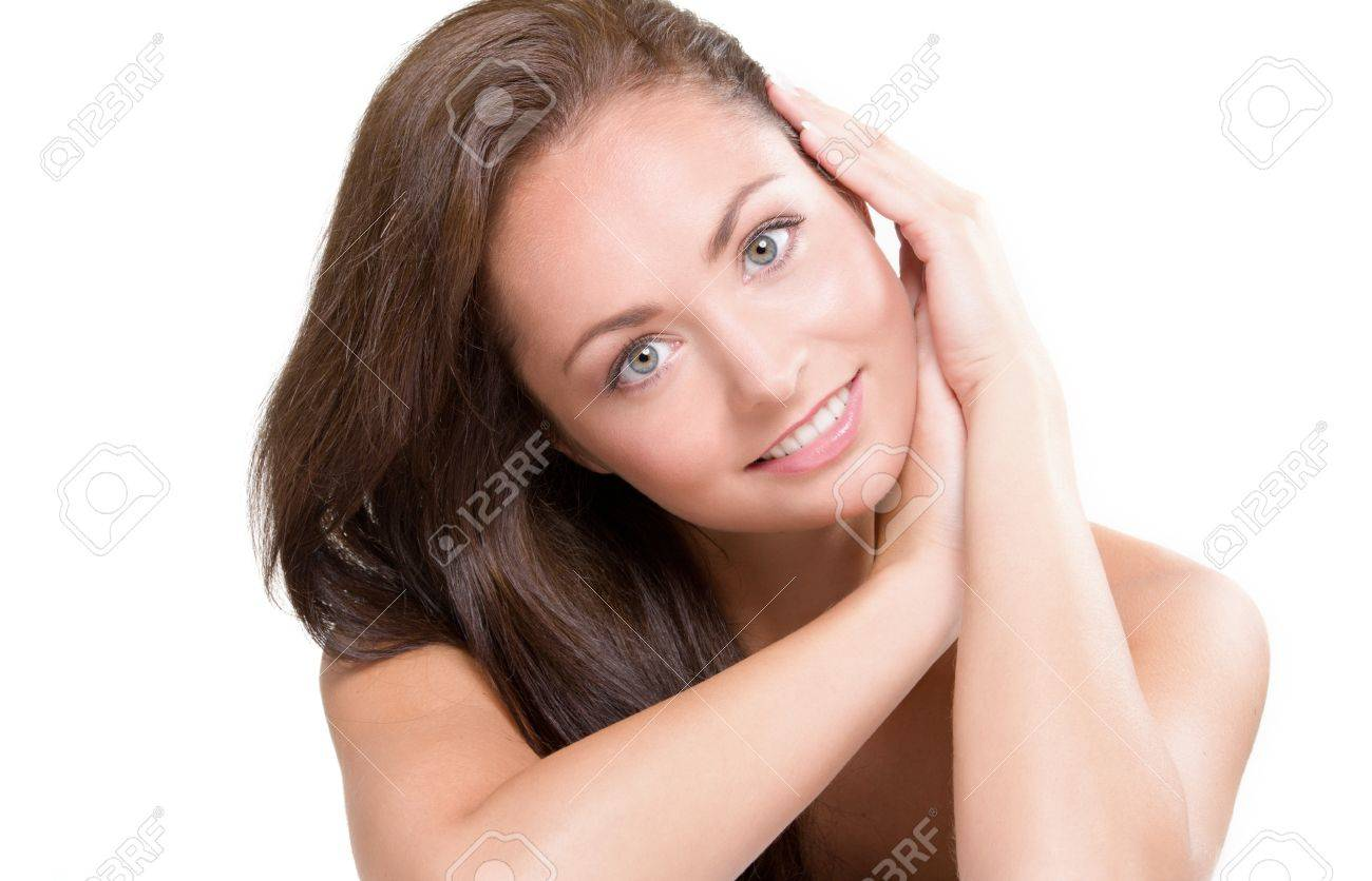 studio portrait of young beautiful woman - natural beauty concept Stock Photo - 10109244