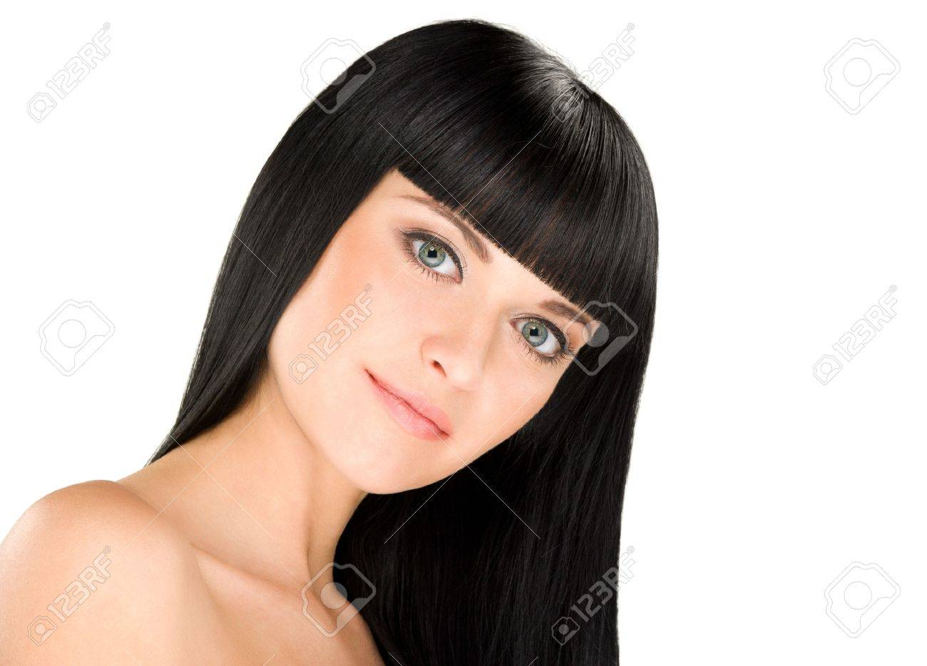 gorgeous young caucasian brunette posing, space for copy Stock Photo - 11972919
