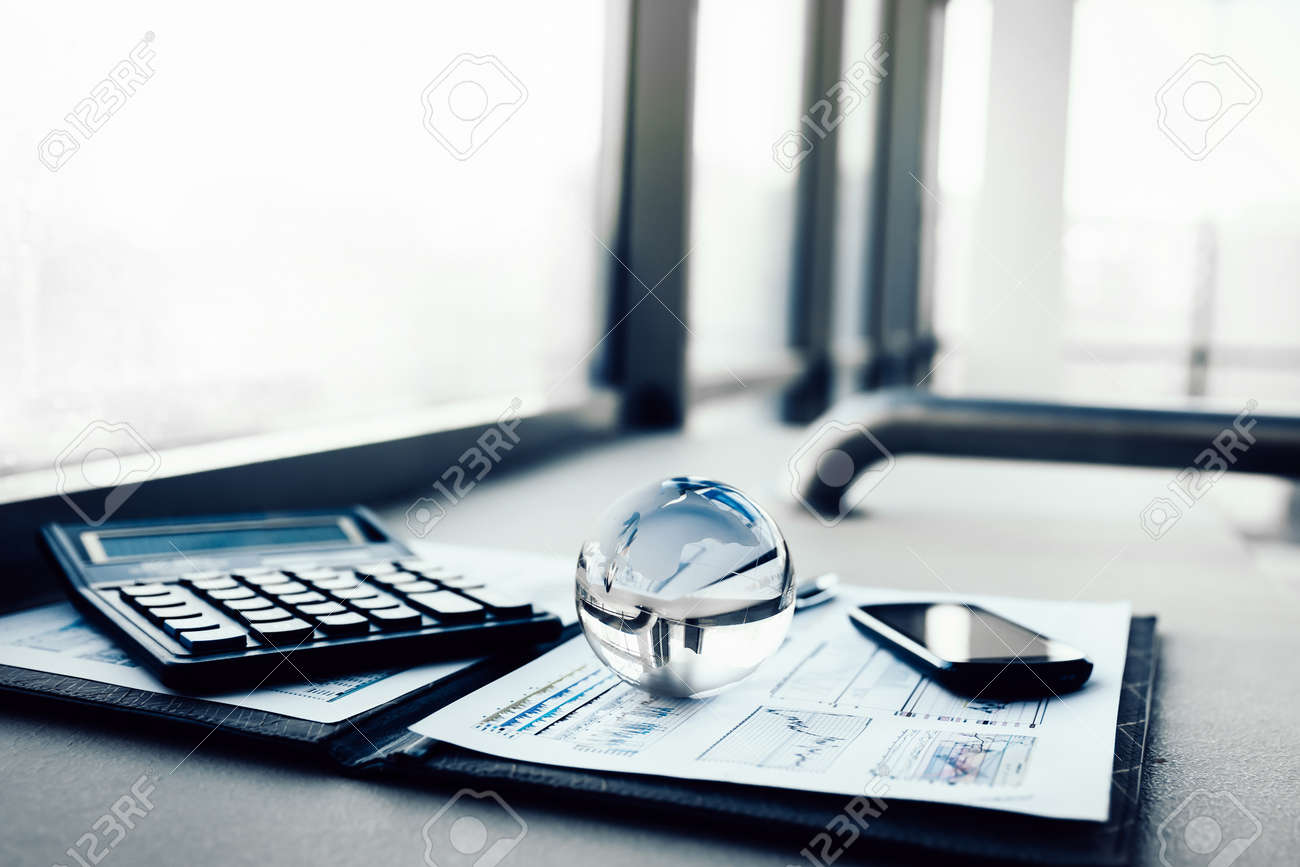 workplace of the modern businessman. business concept - 126490884