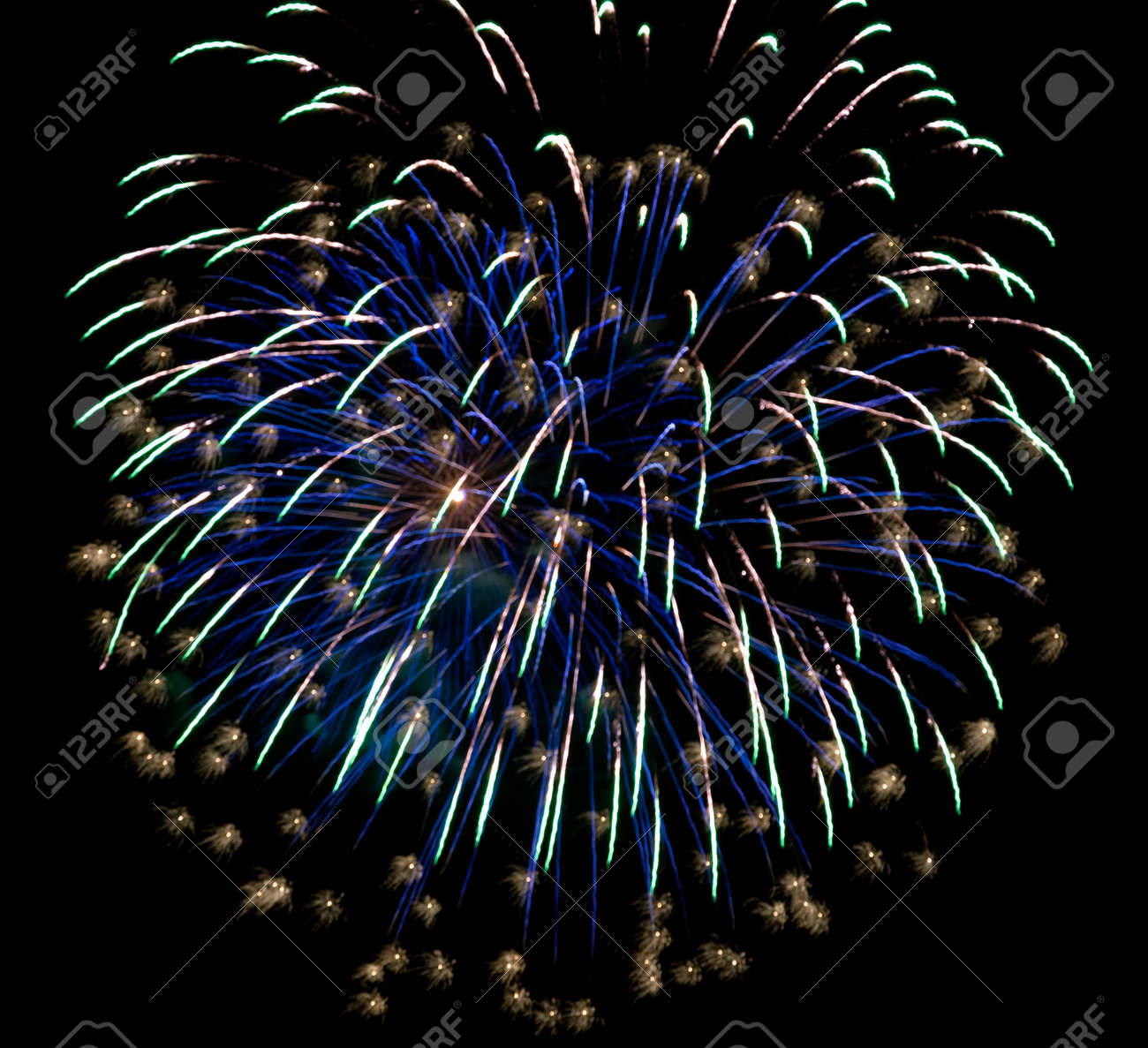 Colourful fireworks in the night sky Stock Photo - 13245635