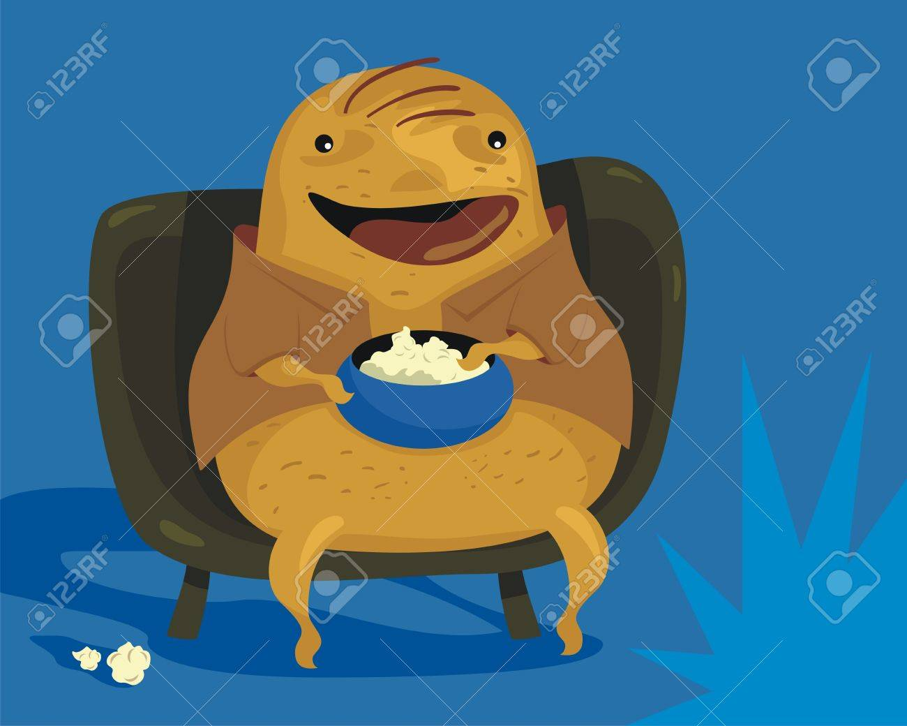 Obese Couch Potato Happy couch potato cartoon