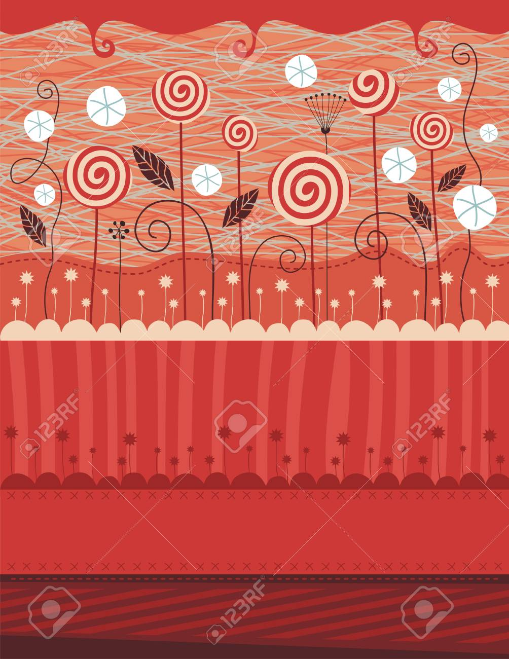 Christmas background with seasonal elements and space for custom text Stock Vector - 15689663