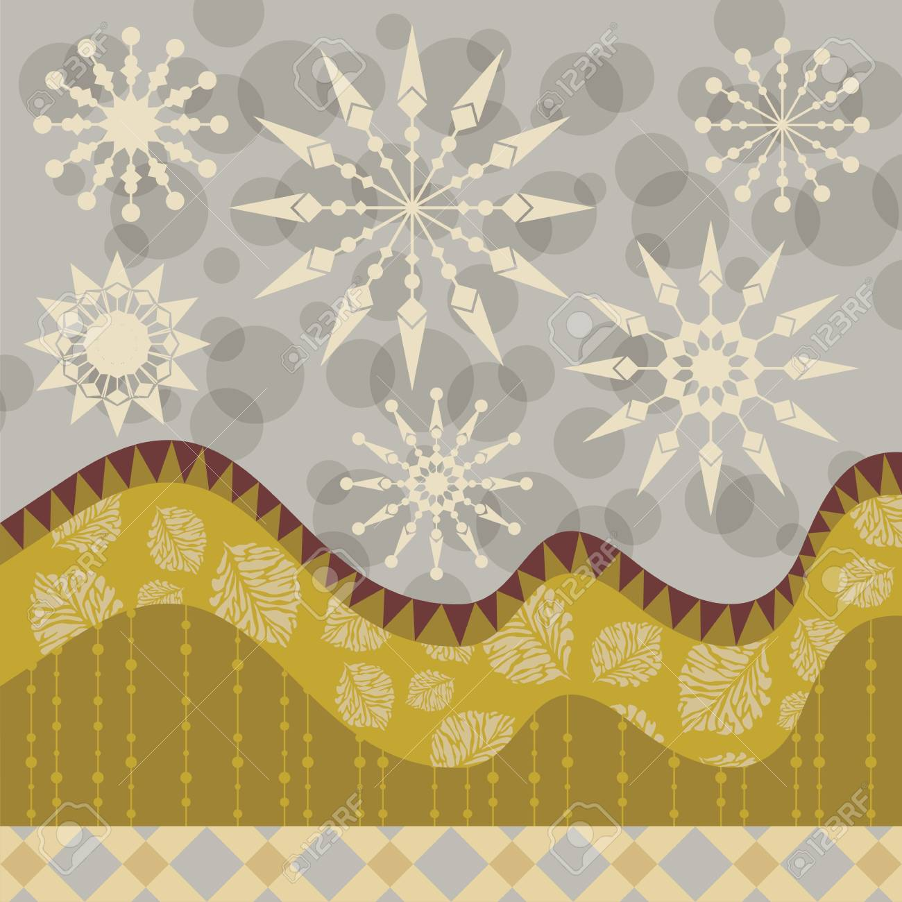 Winter decorative background with abstract seasonal elements Stock Vector - 16484225